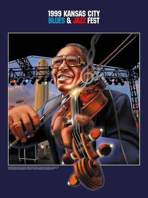 "Kansas City Blues and Jazz Festival - Claude ""Fiddler"" Williams Poster"